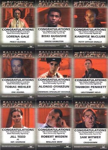 Battlestar Galactica Season One Autograph Card Lot 9 Cards   - TvMovieCards.com