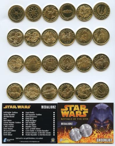 Star Wars Revenge of the Sith Gold Medalionz Card Set   - TvMovieCards.com