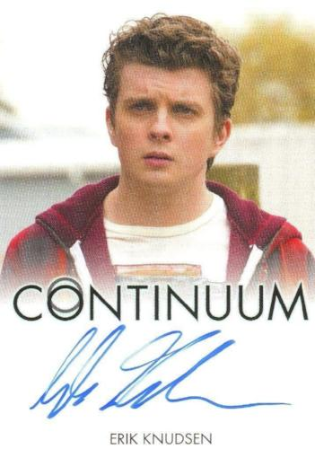 Continuum Seasons 1 & 2 Erik Knudsen as Alec Sadler Autograph Card Front