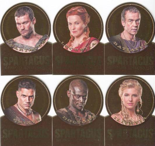 Spartacus Premium Packs Die Cut Gold Plaque Chase Card Set 12 Cards Front1