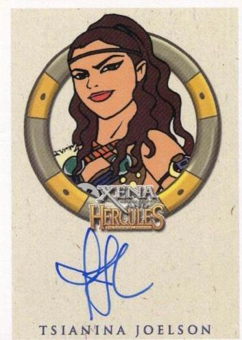 Xena & Hercules Animated Adventures Tsianina Joelson Varia Autograph Card   - TvMovieCards.com