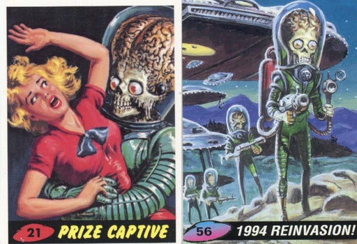 Mars Attacks 1994 Promo Card Lot 2 Cards #21 and #56   - TvMovieCards.com