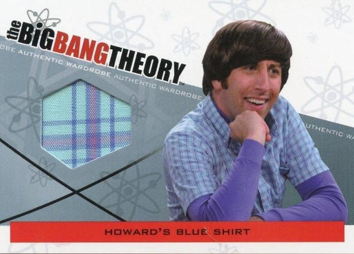 Big Bang Theory Seasons 3 & 4 Howard's Blue Shirt Wardrobe Costume Card M-05   - TvMovieCards.com