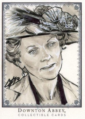 Downton Abbey Seasons 1 & 2 Hand Drawn Sketch Card 1/1 Front