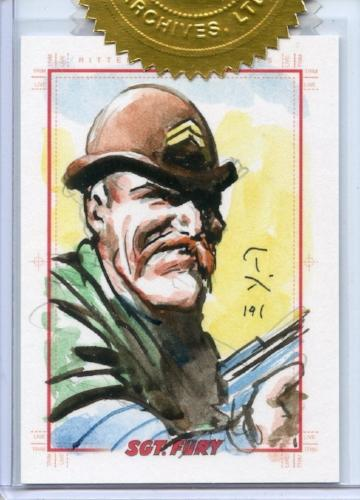 Sgt. Fury and His Howling Commandos 50th Ann. Mark Texeira Incentive Sketch Card   - TvMovieCards.com