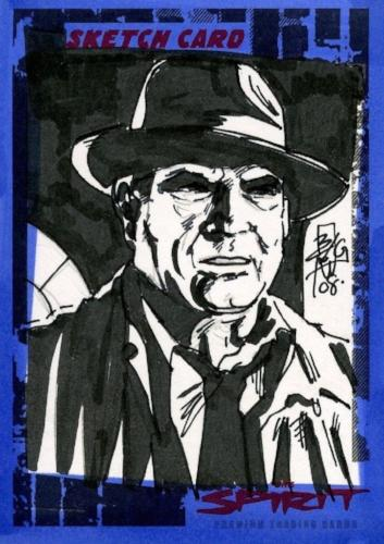 Spirit The Spirit Sketch Card by Brian C. Kong SK-18   - TvMovieCards.com