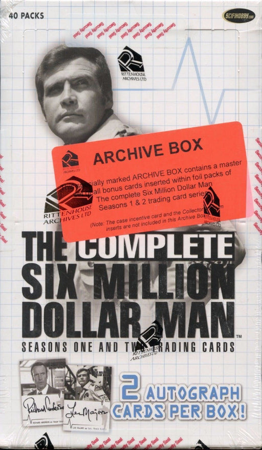Six Million Dollar Man Complete Seasons One and Two Archive Card Box   - TvMovieCards.com