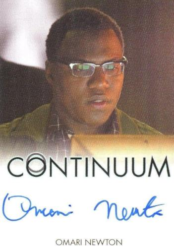 Continuum Seasons 1 & 2 Omari Newton as Lucas Ingram Autograph Card Front