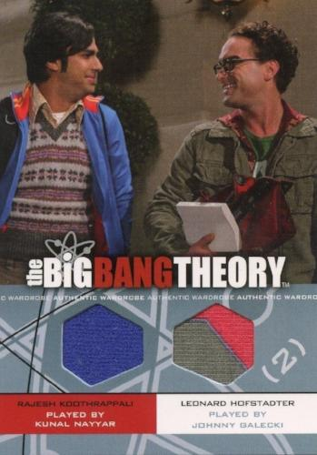 Big Bang Theory Seasons 3 & 4 Raj and Leonard Dual Wardrobe Costume Card DM-07   - TvMovieCards.com