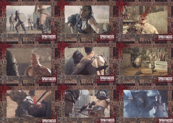 Spartacus Premium Packs Gladiators in Action Chase Card Set 9 Cards Front