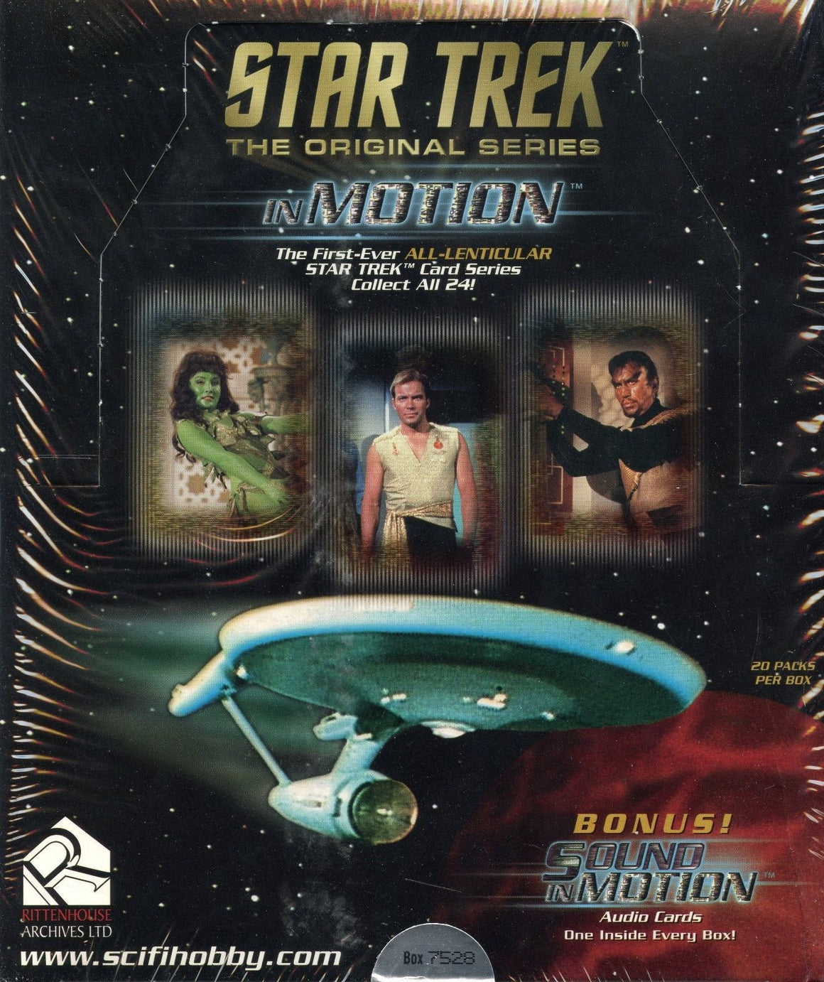 Star Trek The Original Series TOS in Motion Premiere Edition Card Box