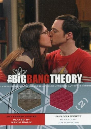 Big Bang Theory Seasons 3 & 4 Amy and Sheldon Dual Wardrobe Costume Card DM-02   - TvMovieCards.com