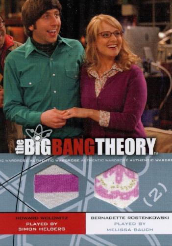 Big Bang Theory Seasons 3 & 4 Howard Bernadette Dual Wardrobe Costume Card DM06   - TvMovieCards.com
