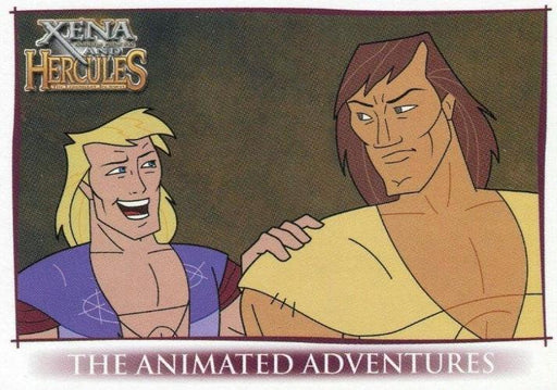 Xena & Hercules Animated Adventures Promo Card UK   - TvMovieCards.com