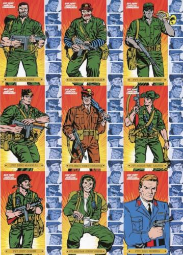 Sgt. Fury and His Howling Commandos 50th Ann. Character Chase Card Set 9 Cards Front