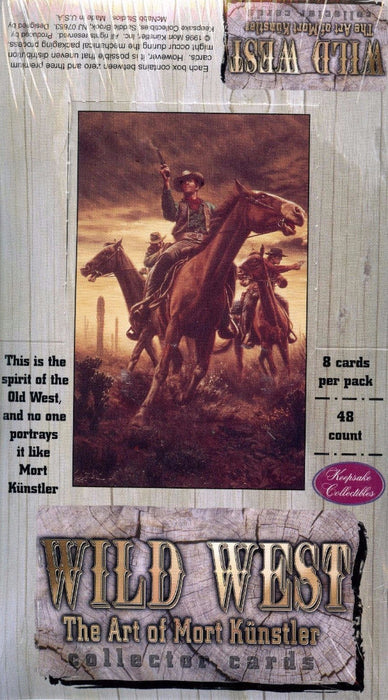 Wild West The Art of Mort Kunstler Card Box Keepsake 1996   - TvMovieCards.com