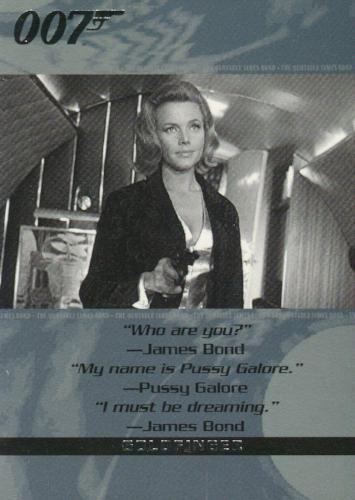 James Bond The Quotable James Bond Promo Card NSU1   - TvMovieCards.com
