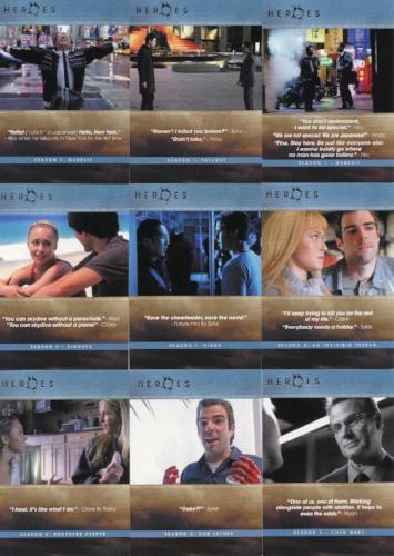 Heroes Archives The Quotable Heroes Chase Card Set 9 Cards   - TvMovieCards.com