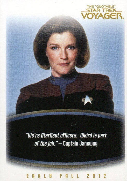 Star Trek Voyager The Quotable Star Trek Voyager Card Album   - TvMovieCards.com