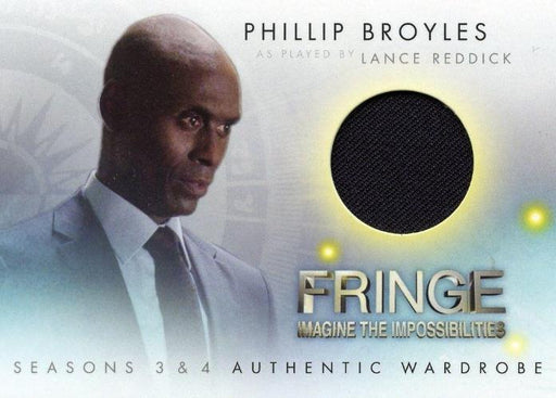 Fringe Seasons 3 & 4 Lance Reddick as Phillip Broyles Wardrobe Costume Card M17   - TvMovieCards.com
