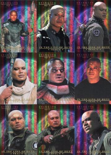 Stargate SG-1 Season Seven In the Line of Duty Teal'c Chase Card Set   - TvMovieCards.com