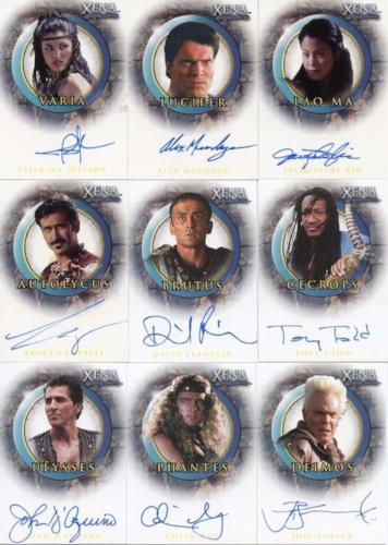 Xena The Quotable Xena Autograph Card Set 17 Cards   - TvMovieCards.com