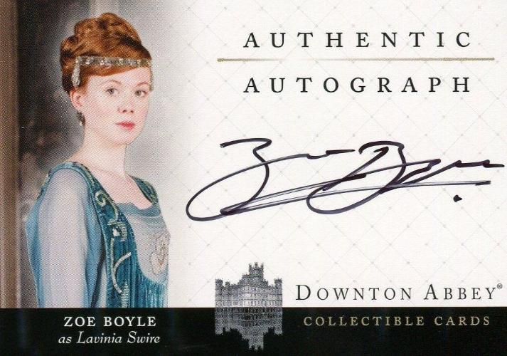 Downton Abbey Seasons 1 & 2 Zoe Boyle as Lavinia Swire Autograph Card A12 Front