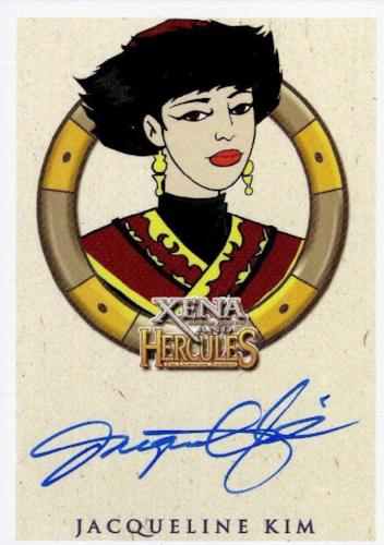 Xena & Hercules Animated Adventures Jacqueline Kim Autograph Card Front