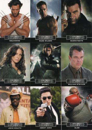 X-Men Origins: Wolverine Movie Casting Call Chase Card Set 9 Cards   - TvMovieCards.com