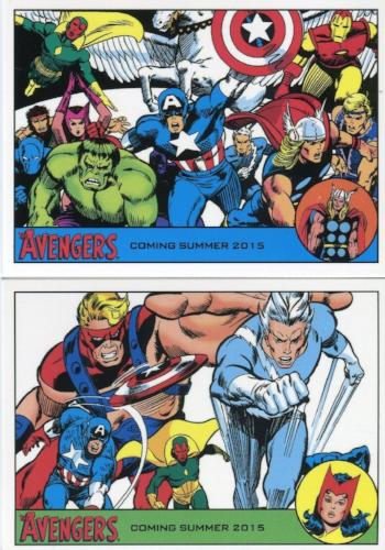 Avengers The Silver Age Promo Card Lot P1 and P3   - TvMovieCards.com