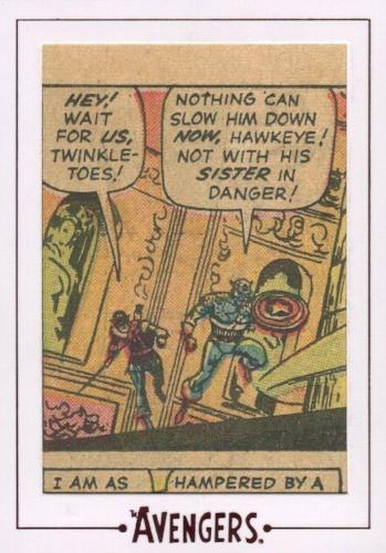 Avengers The Silver Age Comic Archive Cuts Chase Card AV18 #75/150   - TvMovieCards.com