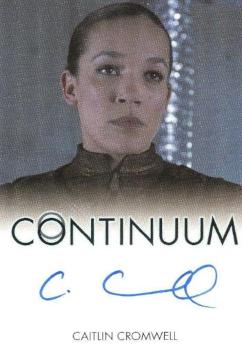 Continuum Seasons 1 & 2 Caitlin Cromwell as Elena Autograph Card Front