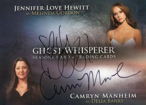 Ghost Whisperer Seasons 3 & 4 J.L. Hewitt & C. Manheim Double Autograph Card   - TvMovieCards.com