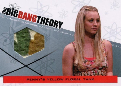 Big Bang Theory Seasons 3 & 4 Penny's Floral Tank Wardrobe Costume Card M-10   - TvMovieCards.com