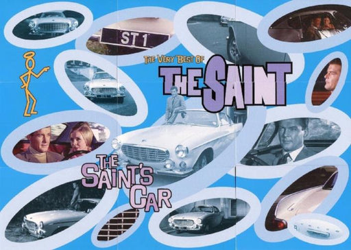 Saint The Very Best of The Saint (The Saint's Car) Puzzle Chase Card Set 9 Cards   - TvMovieCards.com
