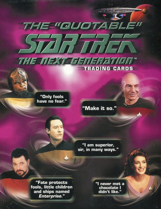 Star Trek The Next Generation TNG Quotable Card Album