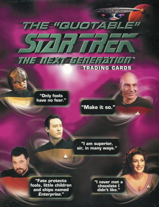 Star Trek The Next Generation TNG Quotable Card Album   - TvMovieCards.com