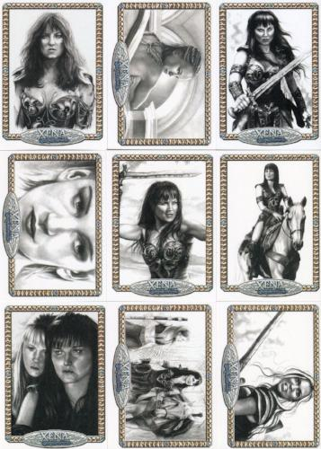 Xena Art & Images Rebekah Lynn Artifex Chase Card Set NA1 thru NA9   - TvMovieCards.com