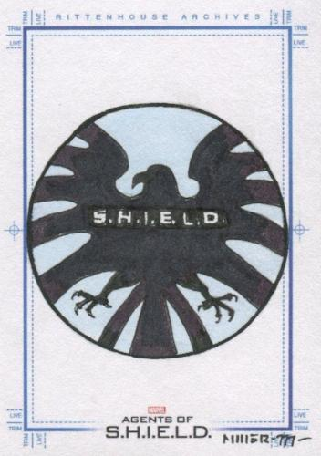 Agents of S.H.I.E.L.D. Season 2 Steve Miller Autograph Sketch Card   - TvMovieCards.com