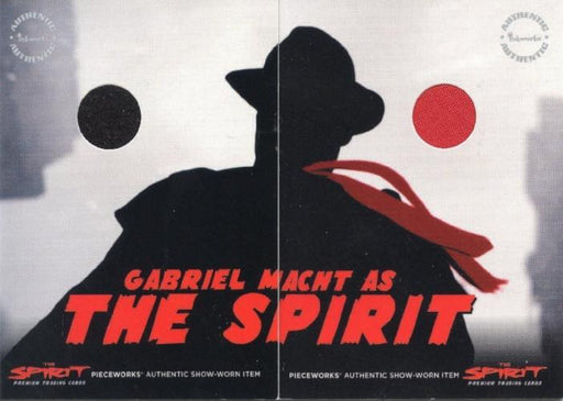 Spirit The Spirit Gabriel Macht Dealer Incentive Pieceworks Costume Card Set   - TvMovieCards.com