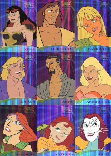 Xena & Hercules Animated Adventures Casting Call Chase Card Set   - TvMovieCards.com