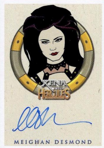 Xena & Hercules Animated Adventures Meighan Desmond Discord Autograph Card Front