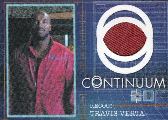 Continuum Seasons 1 & 2 Travis Verta Costume Card CC9 #070/125 Front