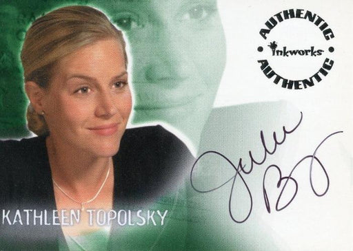 Roswell Season One Julie Benz as Kathleen Topolsky Autograph Card A6   - TvMovieCards.com