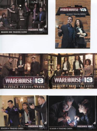 Warehouse 13 Mixed Seasons 1-4 Promo Card Lot 6 Cards Front
