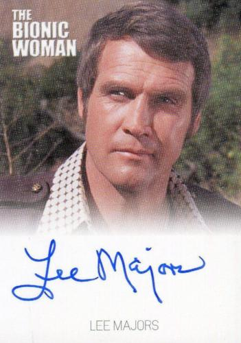 Bionic Collection Lee Majors as Colonel Steve Austin Autograph Card   - TvMovieCards.com