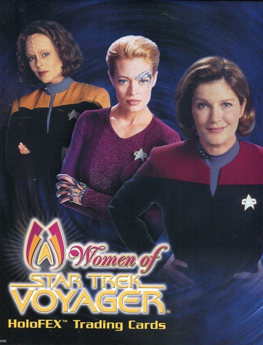 Star Trek Voyager The Women of Voyager Holofex Card Album   - TvMovieCards.com