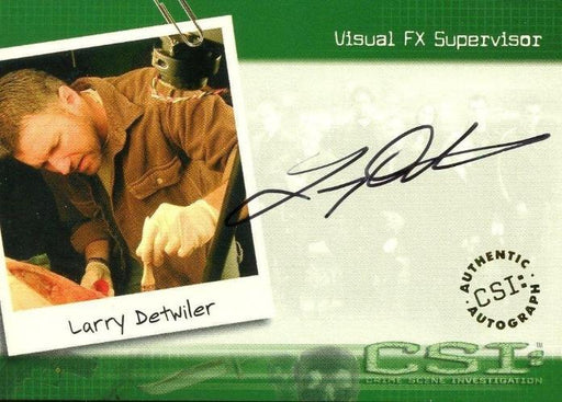 CSI Crime Scene Investigation Season 1 Larry Detwiler Autograph Card CSI-A18   - TvMovieCards.com