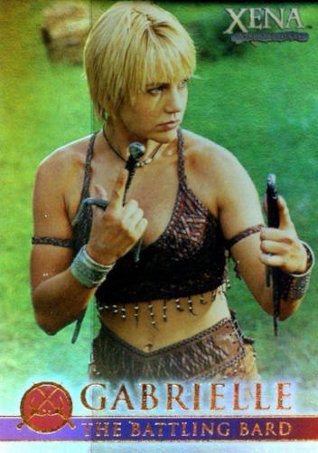 Xena Seasons 4 and 5 Gabrielle The Battling Bard Chase Card G2   - TvMovieCards.com