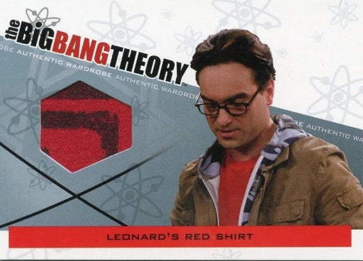 Big Bang Theory Seasons 3 & 4 Leonard's Red Shirt Wardrobe Costume Card M-24   - TvMovieCards.com